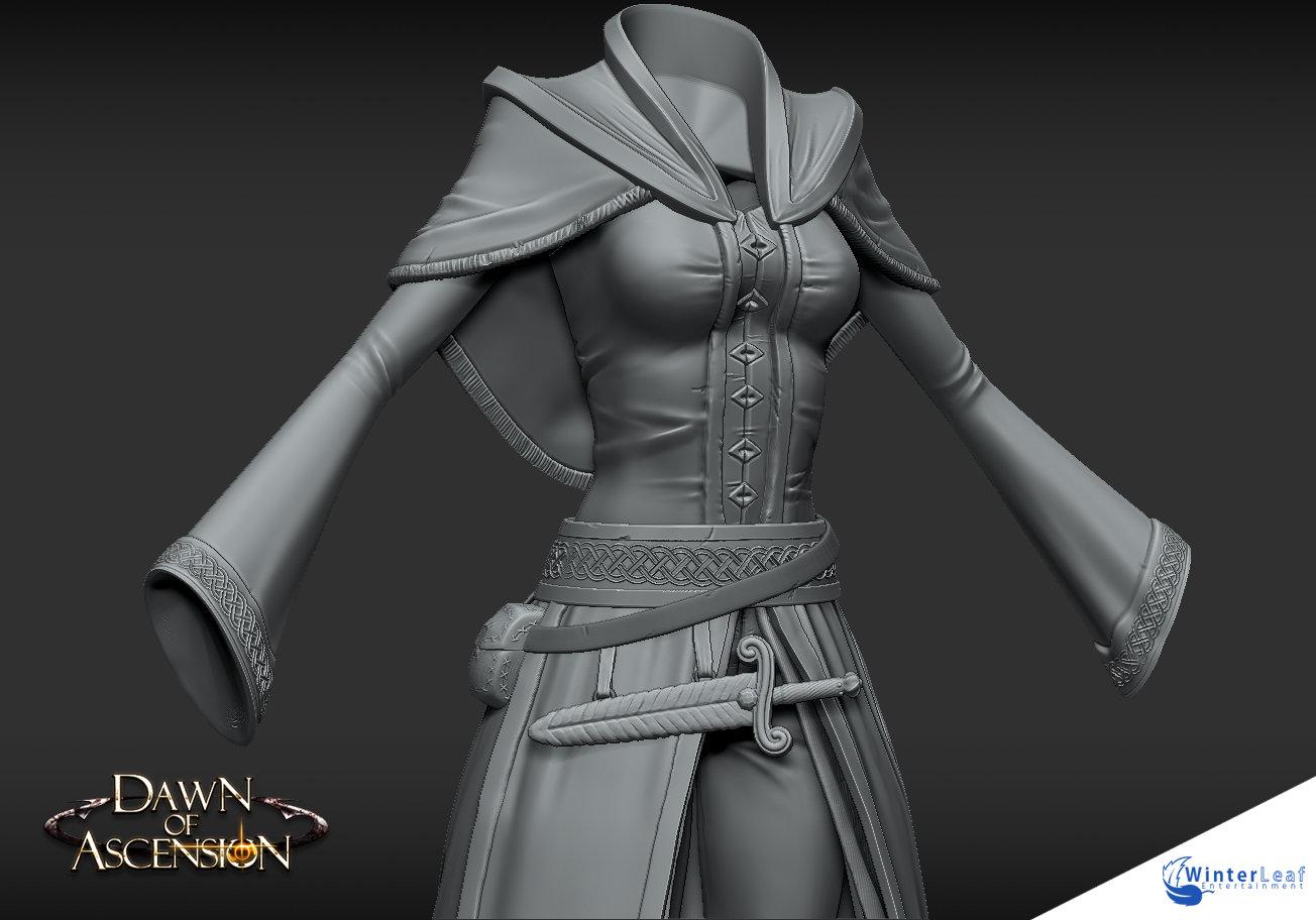 Cloth Armor - High Poly
