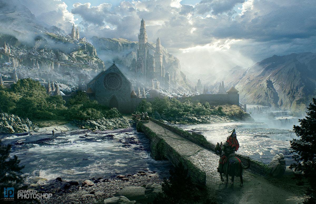 Landscape Epic Fantasy Art