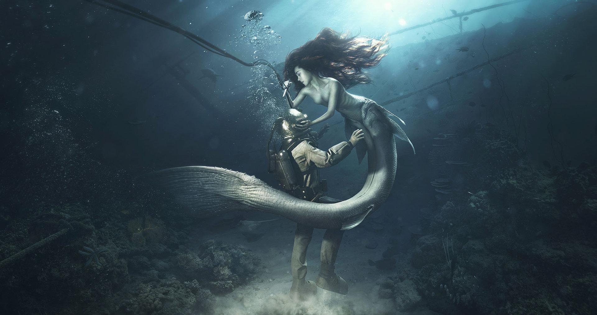 How do mermaids make love