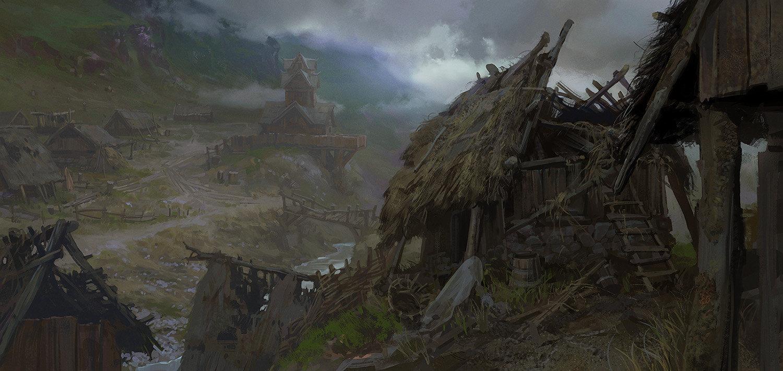 Artstation Medieval Village Andrei Pervukhin