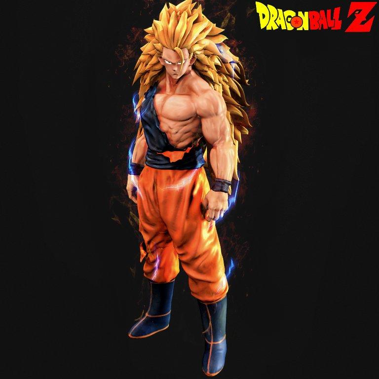 Goku Super Saiyan Level 3!!!