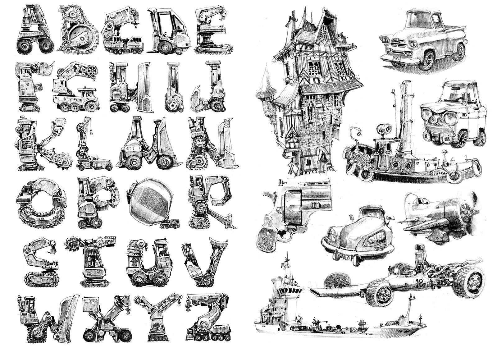 Jean brice dugait 31 alphabet mecha caricatures jb dugait