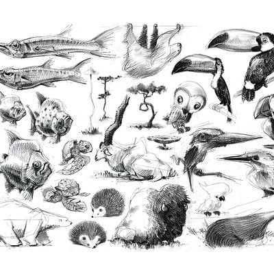 Jean brice dugait 32 animals caricatures jb dugait