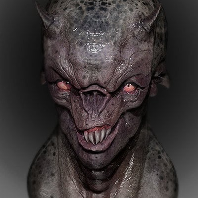 Mathieu roszak demon zbrush