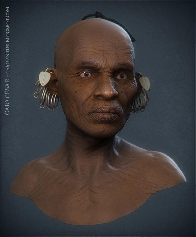 Caio cesar africano cor
