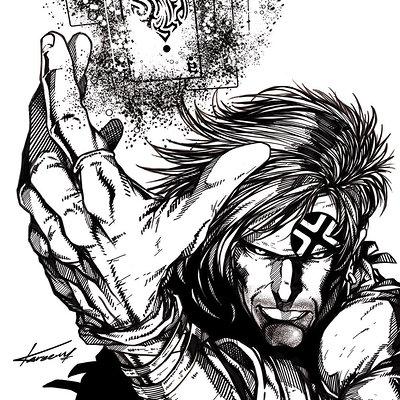 Kareem ahmed gambit comics style low