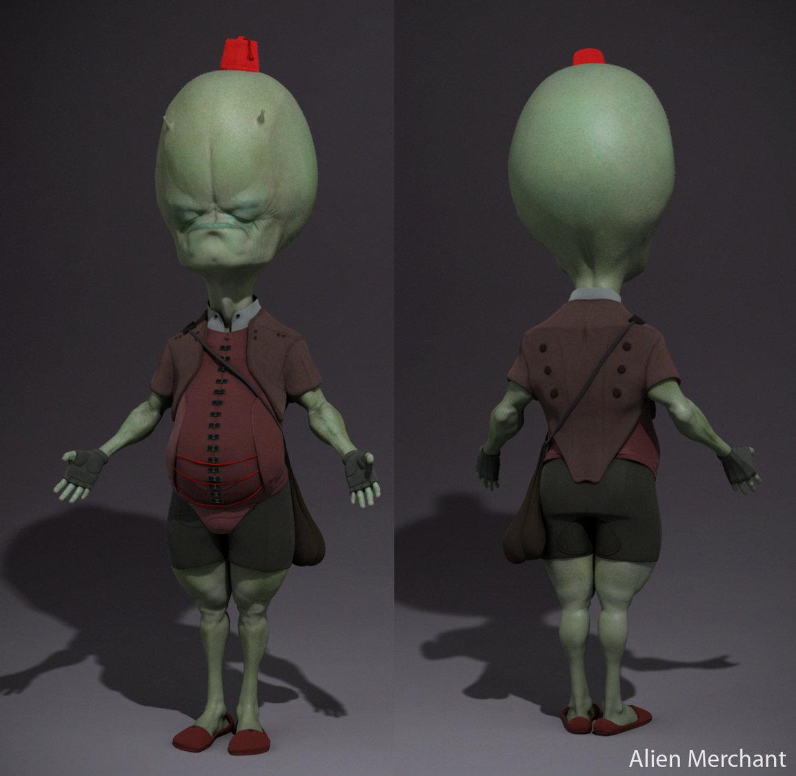 Matthew kean framedworld alien merchant