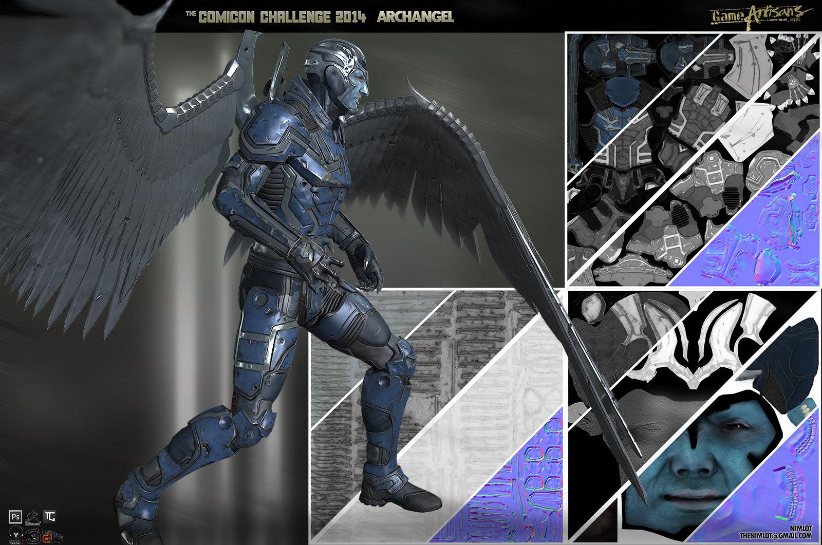 Georgian avasilcutei archangel texture