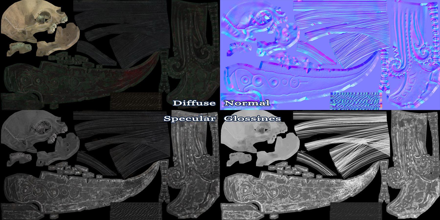 Georgian avasilcutei dagger textures