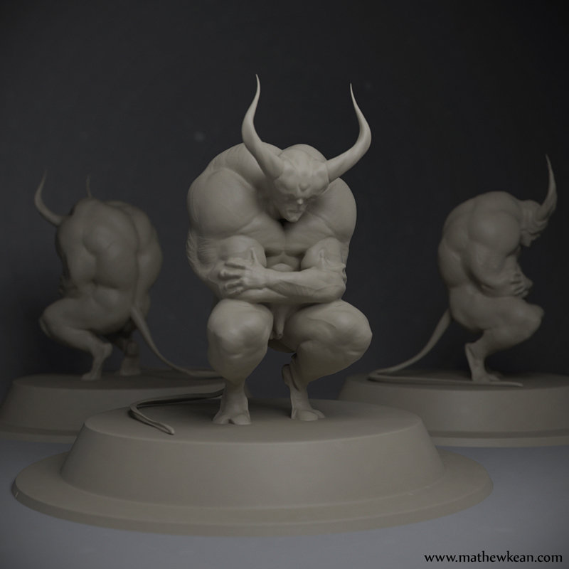 devil paper weight for 3d pint