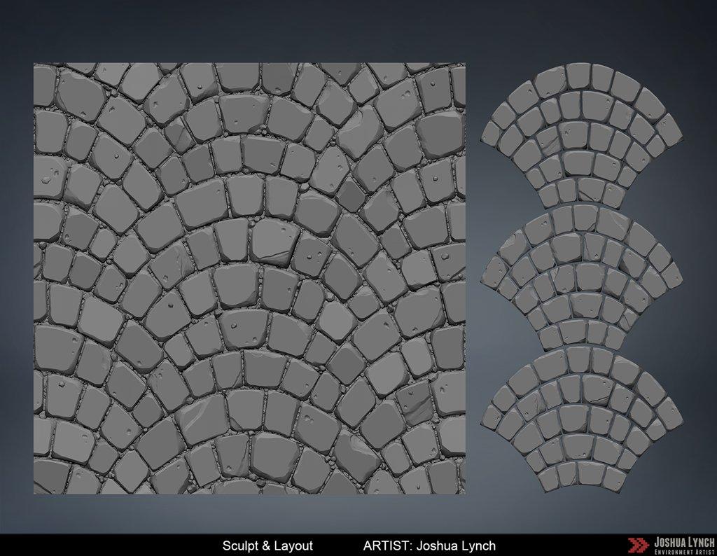 Joshua lynch fan pattern sheet sculpt layout comp