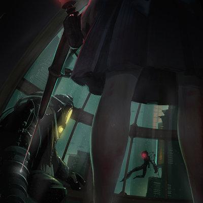 Renee chio bioshock 2 poster by sadiek d5kugyk