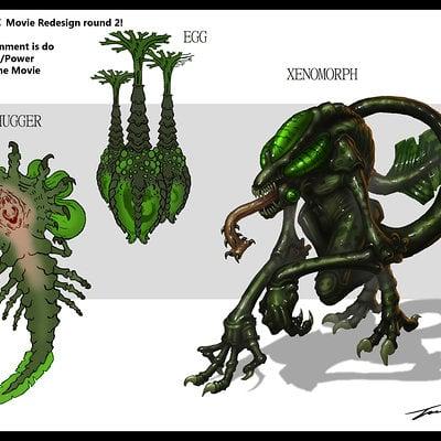 Travis lacey brainstorm travis lacey alien xenomorph concept redesign