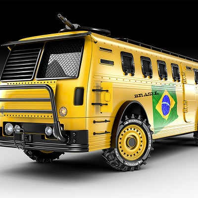 Jomar machado world cup bus