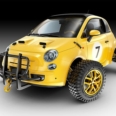 Jomar machado yellow fiat off road