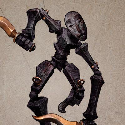 Adolfo navarro macabre puppet mirror of fate