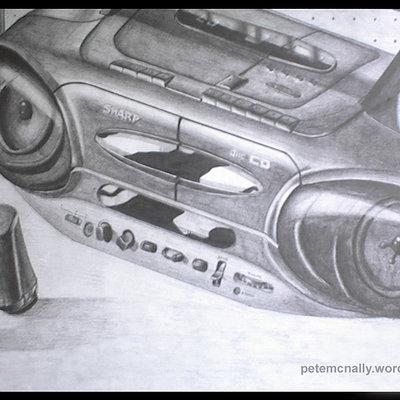 Pete mc nally sketch pencil cdplayerbinocs