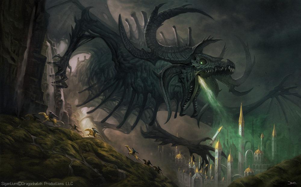 Stygius, the demonic necromantic dragon for the upcoming RPG book, Sigantium
