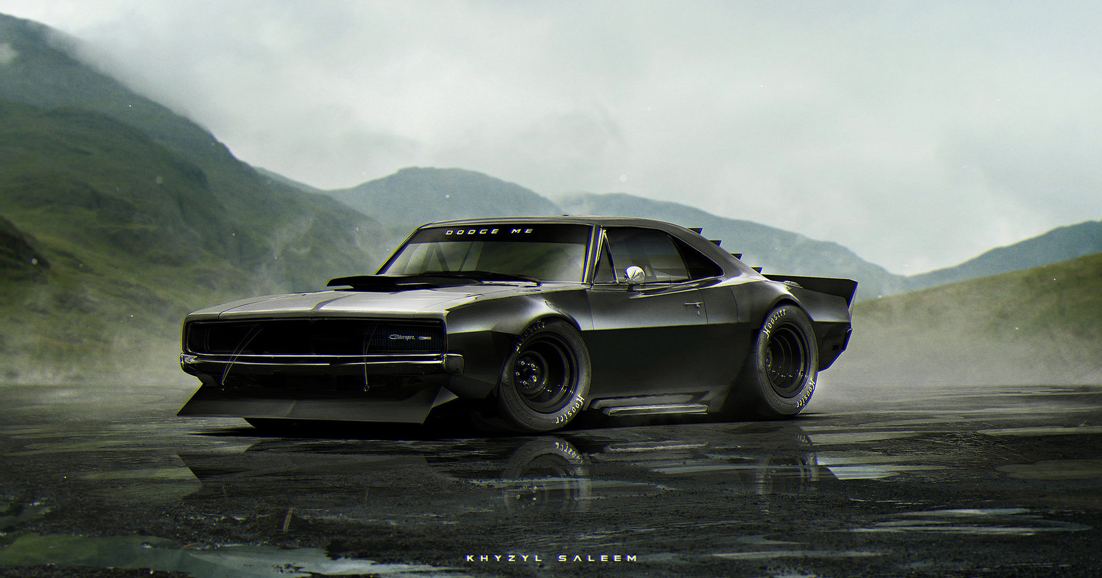 Wanted to place the car somewhere you wouldn't really expect to see a classic muscle car. Haha
