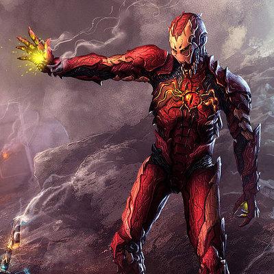 Zulkarnaen hasan basri symbiote ironman by ijul d4c2we9