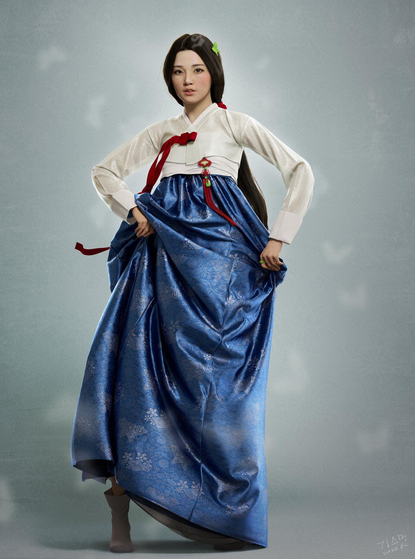 Artstation Korean Traditional Dress Seungmin Kim