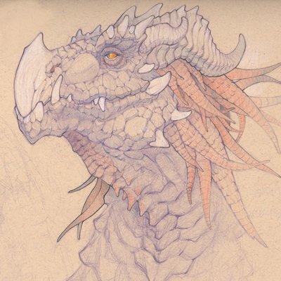 Charles hamel khymera dragonportrait