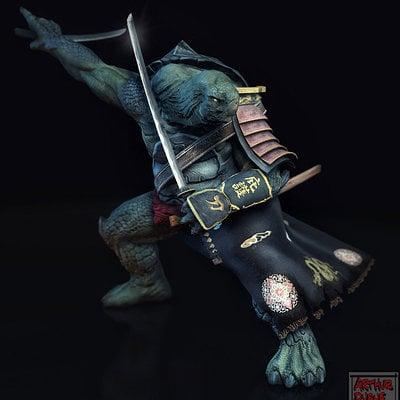 Arthur duque samurai turtle 01