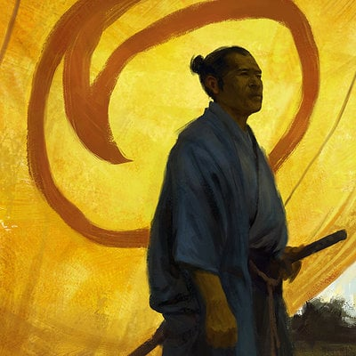 Gal or 130826 blueyellow samurai