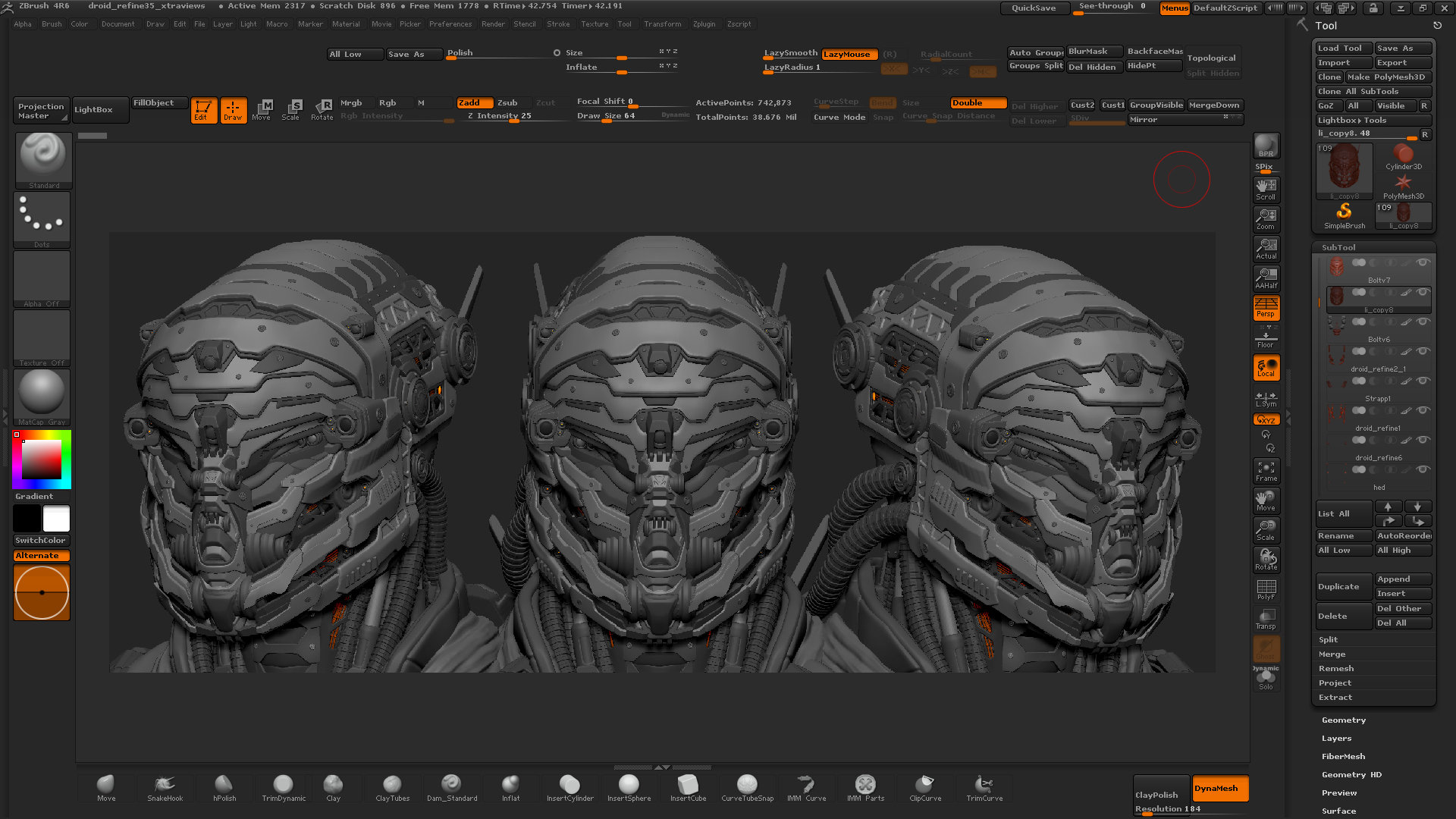 Riyahd cassiem sci fi character design in zbrush teaser for Sci fi decor