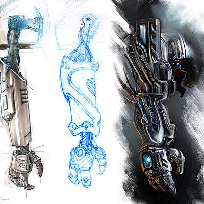 Steve 99 concept arms low