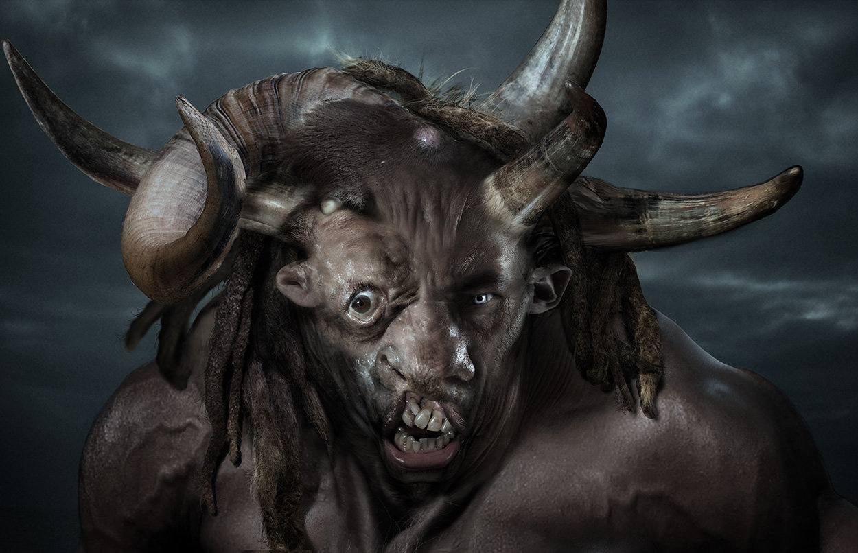 Minotaur  head design variations 01, done for Wrath of the Titans