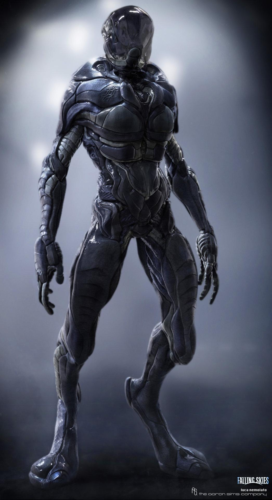 Artstation Falling Skies Cochise Alien Suit Luca Nemolato