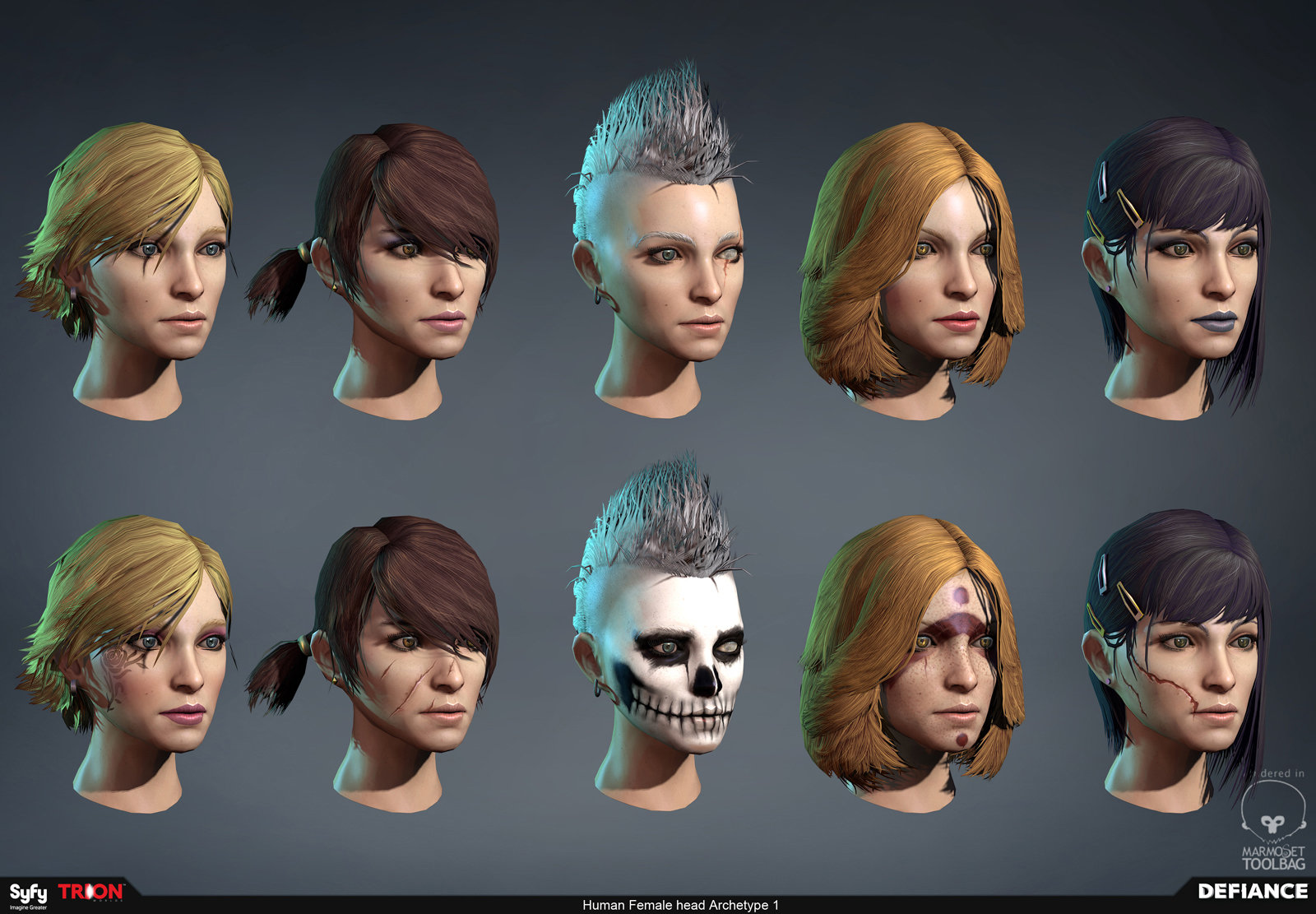Defiance - Player Character Customizations