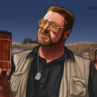 Dylan quinn big lebowski commission by dquinn89 d6syduy