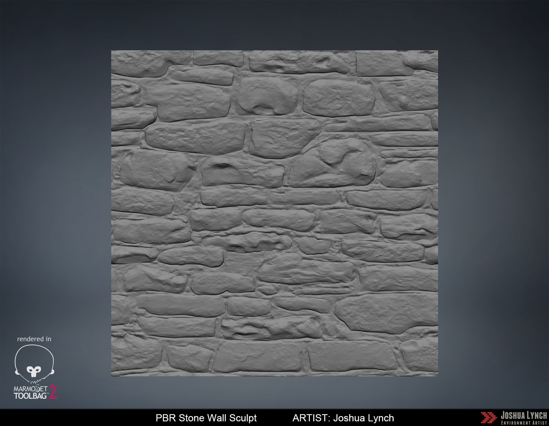 Joshua lynch stone wall zbrush sculpt josh lynch