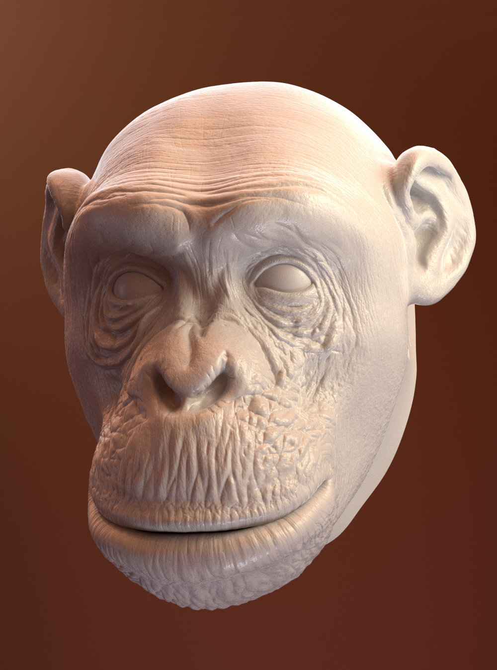 Oleg memukhin monkey head sculpt a