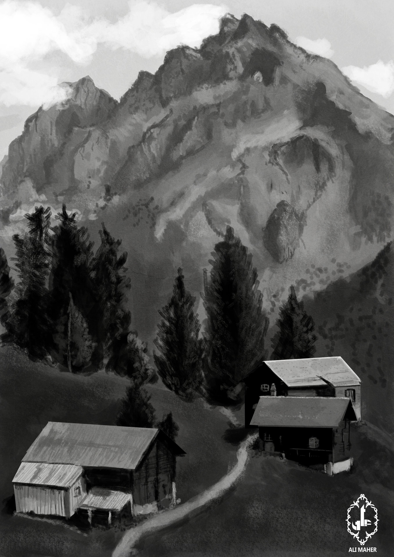 Ali maher scene mountain