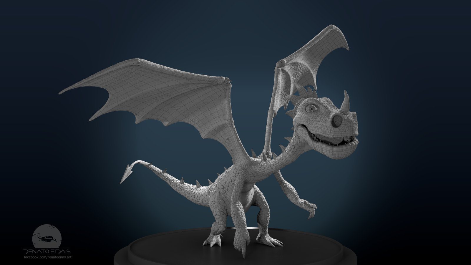 Burned - The Little Dragon Wireframe