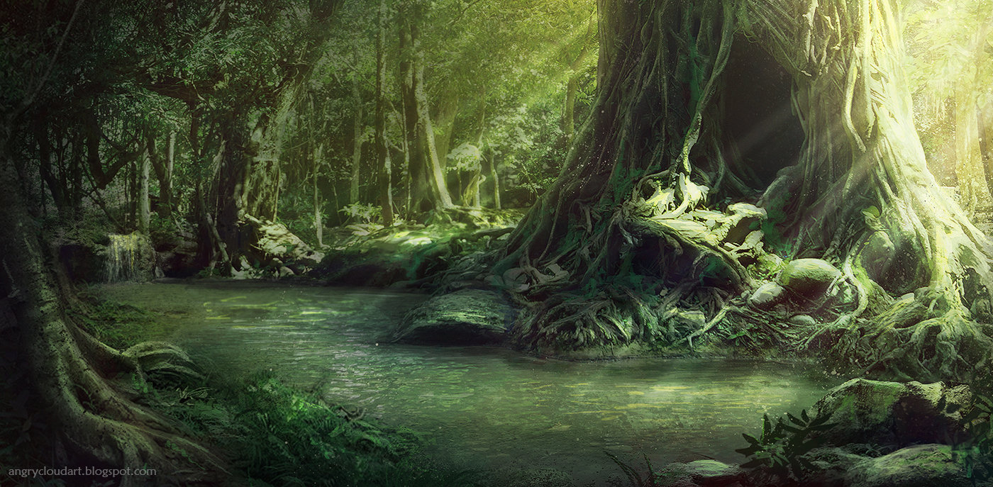 Rose Has Thorns Part 4 - The Darker World - Page 2 Magdalena-mudlaff-matte-painting-environment-fantasy-forest-concept
