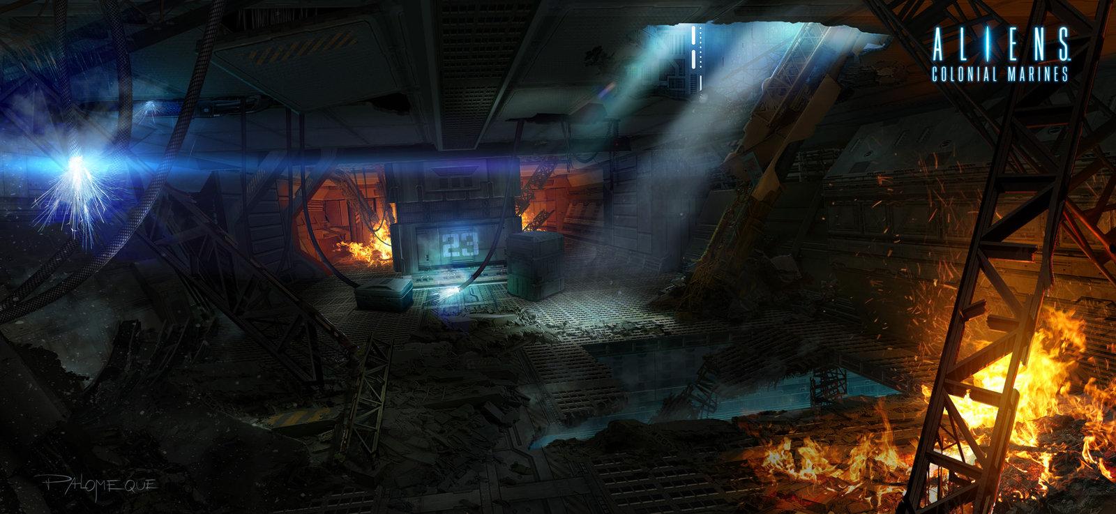 ACM Interior Wreckage