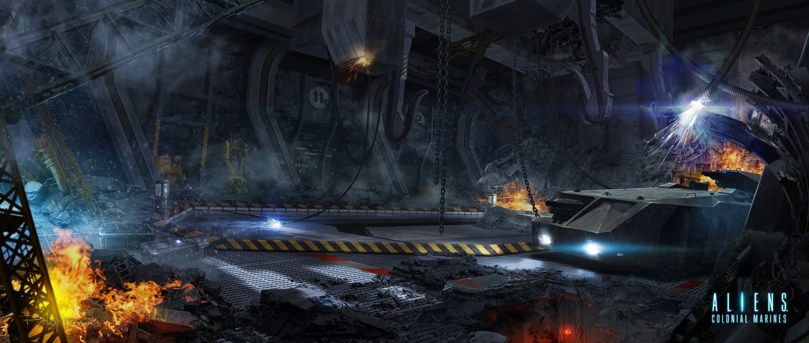 ACM Wrecked Hangar Bay