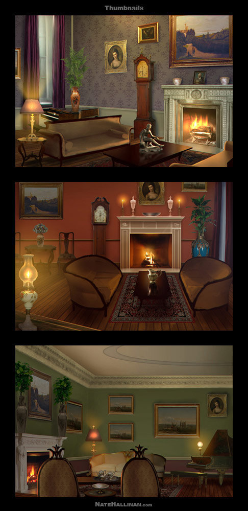 Drawing Room rough concepts