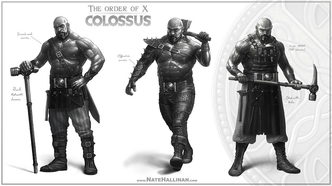 The Order of X - Colossus rough concepts