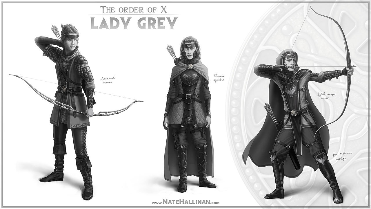 The Order of X - Lady Grey rough concepts