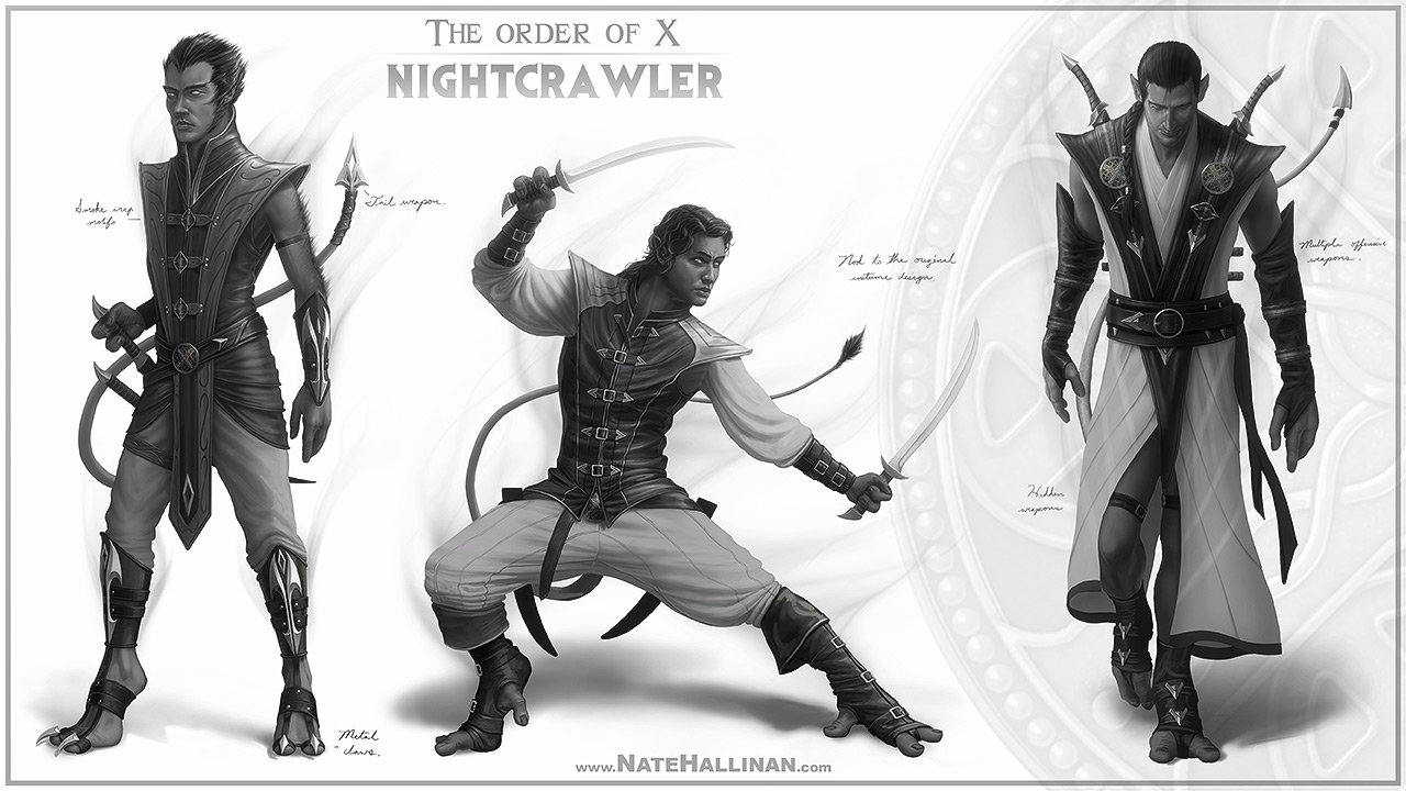 The Order of X - Nightcrawler rough concepts