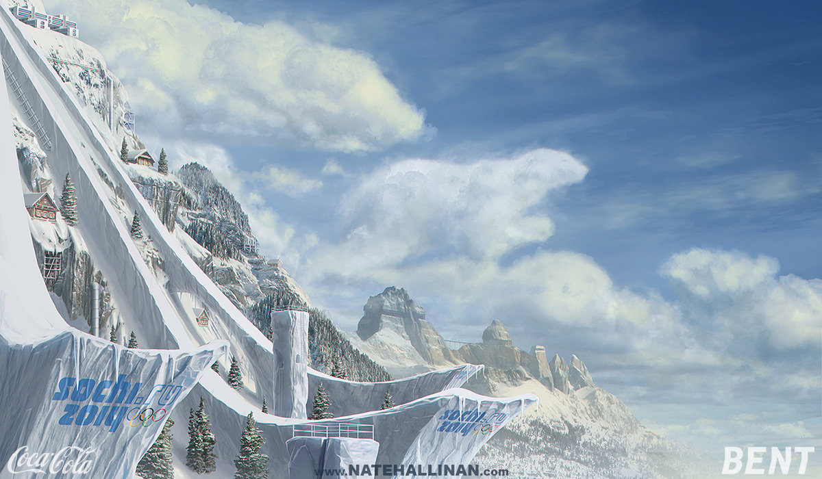 2013 Winter Olympics Coca-Cola - Ski Jump Matte Painting