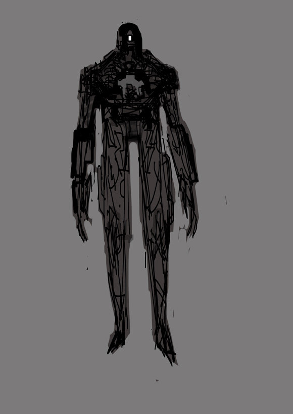 early concept of sentinel 03 , x-men future past
