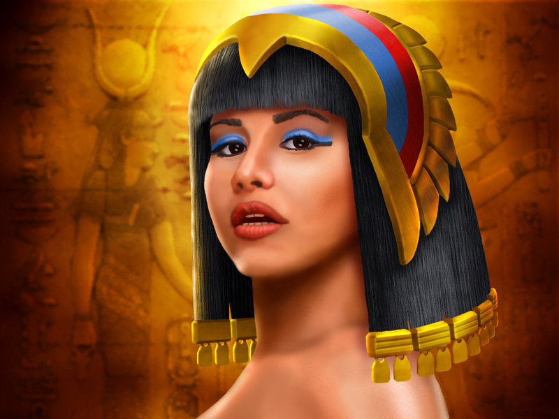 Cleopatra, painted in Photoshop.