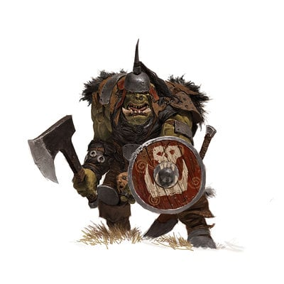 Adrian smith fw orc with choppa and shield