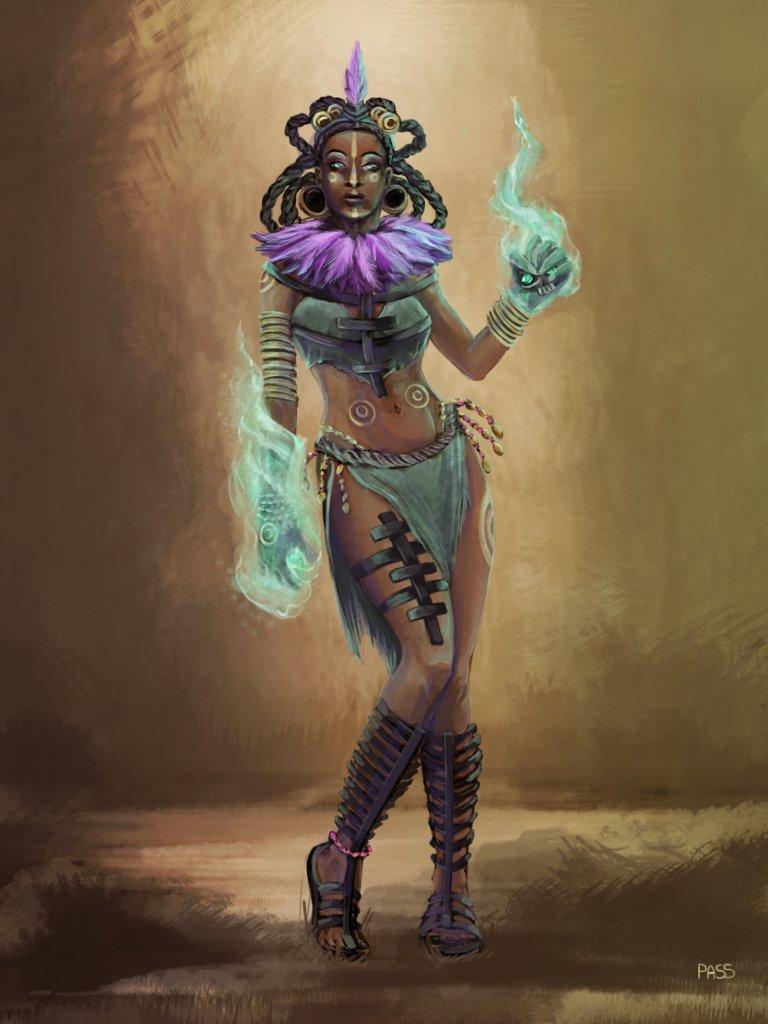 Artstation Witch Doctor Concept Art Pamela Soares